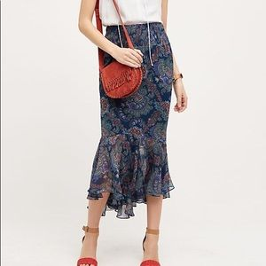 Anthropologie Vanessa Virginia Paisley Maxi Skirt